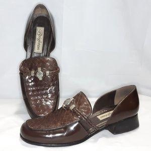 Brighton 9.5M Holland Loafers Dark Brown